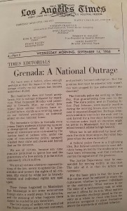 Grenada was in the national news more than once