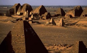 Remains of the glory of Meroe