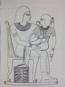 "Again note the ""child"" on the lap of the goddess/city. See the crushed enemies. the ""child"" is the controlling dynasty."