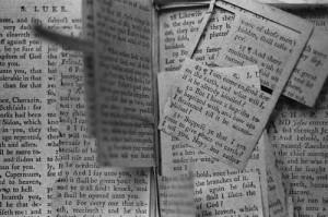Freddie Krueger, M. Div's slashed Bible