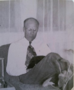 Moser with his Bible in 1949
