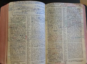 Ephesians heavily annotated by Moser in his main Bible