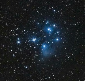 """The Pleiades (M45) taken in 1999 with a 6"""" f/4.3 """"rich field"""""""