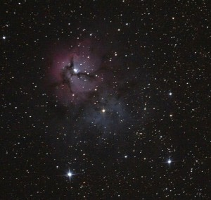 "Trifid Nebula ... 6"" f/4.3 rich field"