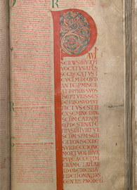 Opening of Romans. Medieval text